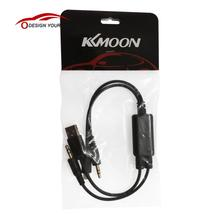 KKmoon Car Auto USB 3.5MM AUX Adapter Interface Cable for BMW MINI Cooper & for iPod iPhone 5 5S 5C