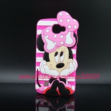 For LG Zone 3 VS425 Sweet 3D Silicon Minnie Cartoon Style Soft Cell Phone Back Skin Cover Case for LG Zone 3 K121 (Canada K4)