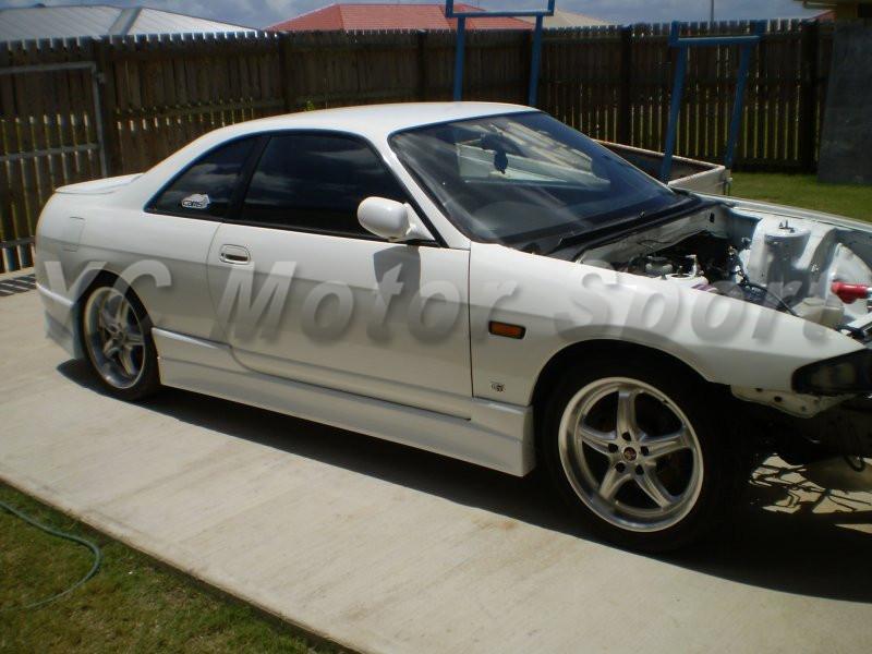 1995-1998 Nissan Skyline R33 GTS 2D M Sport Style Side Skirts FRP (8)