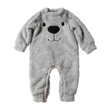 Buy Baby rompers Spring Autumn Baby boy clothes Jumpsuit Girl animal Rompers Winter Baby Warm Romper Newborn Clothes Bebe pajamas for $7.30 in AliExpress store