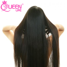 Queen like Hair Products 1 Piece 100% Natural Human Hair Weave Bundles 8-28 Inch Non Remy Natural Color Malaysian Straight Hair(China)