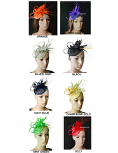 New Arrival feather sinamay bridal fascinator for kentucky derby wedding and party .8 colors.FREE SHIPPING(China)