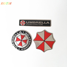 3D Car Stickers Aluminum Umbrella Corporation Resident Evil Decals Emblem BMW AUDI VW Volkswagen Ford Focus 2 3 toyota - Shop2963040 Store store