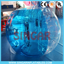 Free shipping 1.0mm TPU 1.2m diameter indoor bubble soccer,giant inflatable ball,bumper ball for kids