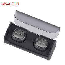 Wavefun X-Pods mini bluetooth wireless earphone in-ear earbuds headphones with battery dock microphone for iPhone Xiaomi phone(China)