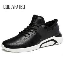 new arrival a33ba 59f34 COOLVFATBO blanco Popular hombres zapatillas nuevo PU zapatos de cuero para  hombre Lace Up Mans al aire libre calzado para camin.