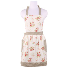 Neoviva Canvas Gardening Apron for Flirty Women with 2 Pockets, Style Diana, Floral Nitong Roses
