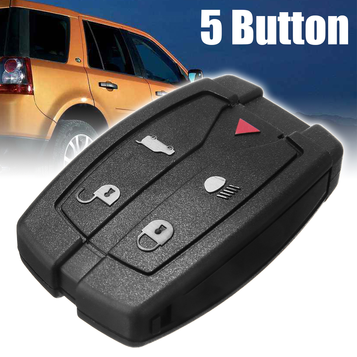 5 Buttons Remote Key Fob Shell Durable Replacement Car Key Case Blade For Land Rover Freelander 2 Ignition System