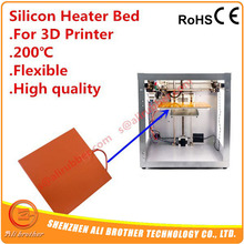 200x200mm 110v 200W Silicone Heater Silicone Heating Pad With 3M adhesive abd NTC thermistor(China)