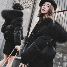 Fashion Women's short down coat 2016 Winter Jacket women down jackets slim large Raccoon fur collar thickening outerwear parka