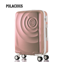 "NEW 20"" 24"" 26 ""6-color large capacity Rose Scrub ABS rolling luggage sets travel suitcase trolley bags travel case"
