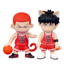 NEW Hot 8cm SLAM DUNK Sakuragi Hanamichi Rukawa Kaede Action Figure Toys Collection Doll Christmas Gift with Box