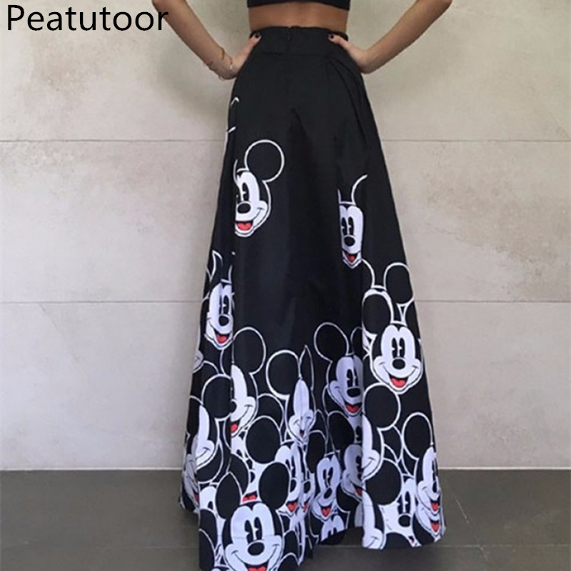 2018-Summer-Skirt-Women-Long-Skirts-Elastic-High-Waist-Pleated-Maxi-Skirts-Beach-Boho-Sexy-Vintage (3)