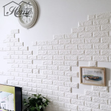 PE Foam 3D Wall Stickers Safty Home Decor Wallpaper DIY Wall Decor Brick Living Room Kids Bedroom Decorative Sticker 68x15cm