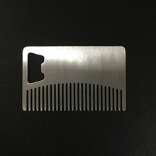 2017 New Beard brush Sex Man Gentleman  Beard & Hair Combs Pocket Clip Hair Moustache Beard Comb Can Be Use As A Bottle Opener