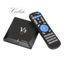 Best V3 Android 6.0 TV Box RK3229 2GB DDR 8GB 4K Set top Box Quad Core XBMC H.265 HDMI WiFi Media Palyer Support HDD(China)