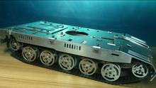 Custom models DIY obstacle tank chassis smart car with independent suspension damping unit
