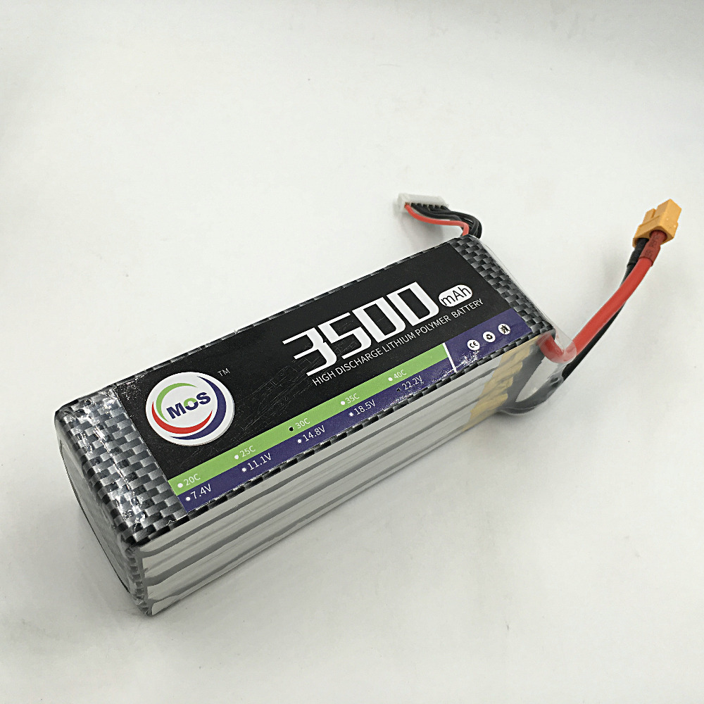 MOS 6S 22.2V 3500mah 25C RC Lipo battery for rc airplane drone quadrotor car tank akku<br>