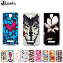 AKABEILA Soft TPU Cell Phone Cases For ZTE BLADE L5 ZTE BLADE L5 Plus Covers Cat Tiger Captain American Batman Painted Bags