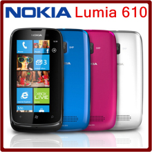 610 Unlocked Original Nokia Lumia 610 WIFI Bluetooth 8GB ROM 5MP 3G Windows Mobile Refurbished Mobile Phone Free Shipping