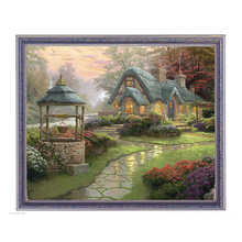 Diamond Embroidery Landscape Country House Diamond Painting Custom Photo Forest House Photo Custom Handicraft Bead Cross Stitch(China)
