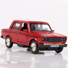 New 1:32 LADA car model wholesale Soviet classic model Russia Retro Toy boy pull back sound light alloy diecast free shipping