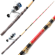 Deep sea taigek 's top boat fishing rod 1.8 meters Handmade heavy fishing rod set Titanium alloy shipwreck lure rod + reel(China)