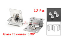 Best Promotion Wholesale Price Silver Tone Stainless Steel 10mm Thickness Wall to Glass Hinges 10PCS(China)