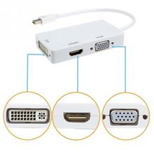 Mini Display Port DP To HDMI VGA DVI Display Port Cable Adapter Converter for Apple MacBook Pro Microsoft Surface Pro 2 3
