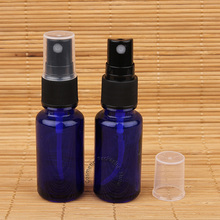 5pcs/Lot Promtion Empty 15ml Glass Essential Oil Bottle Black Lid Parfum Vial Small Women Makeup Spray Pot Blue Packaging(China)