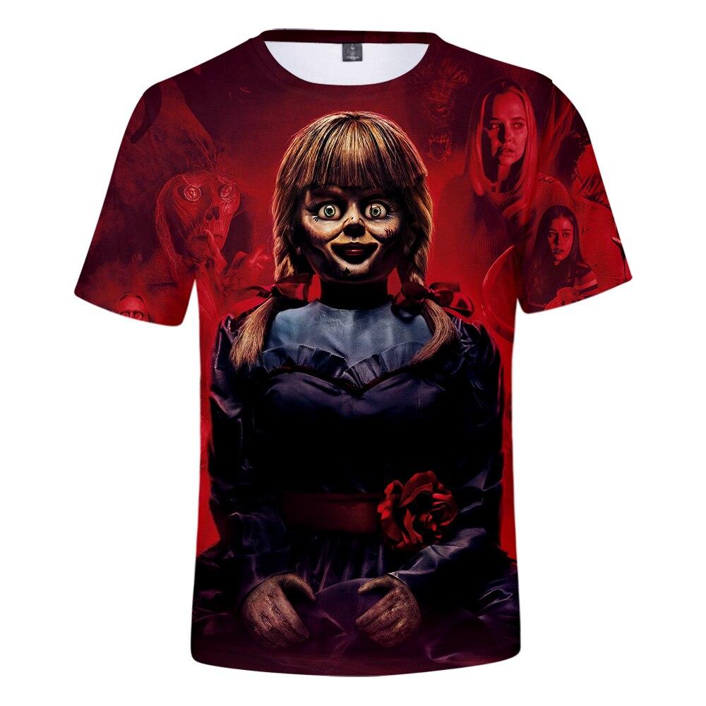 2019 New T-shirtAnnabel men women Printing 3D T shirt  casual Harajuku cartoon funny T-shirt O-neck short-sleeved Tshirt