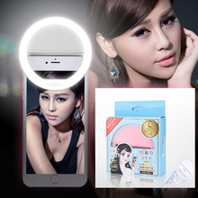Selfie LED Ring Light Phone Light Night Darkness Selfie Enhancing Photography for Smartphone iPhone Samsung Four colors(China)