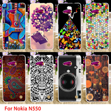 Soft TPU Cases For Microsoft Nokia Lumia 550 N550 4.7 inch Cold Painted Hard Cell Phone Cover Housings Bags Sheaths Skin Hood