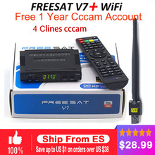 2017 New Arrival Digital tv satellite decoder Freesat V7 HD satellite receiver DVB-S2 +1PC WIFI Full 1080P support CCCAM youpron(China)