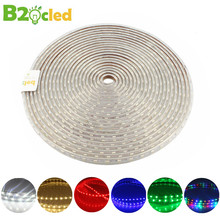 Fashion NEW 1 -100m AC 220V 60 LED/m SMD5050 Strip LED Light IP65 Waterproof Suitable for Home Decoration Lighting EU Warm White(China)