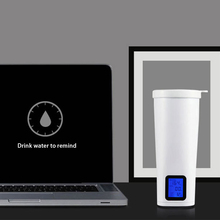 Smart stainless steel drinking glass water cups Intelligent automatic LCD time reminder Vacuum insulation water kettle 630063(China)