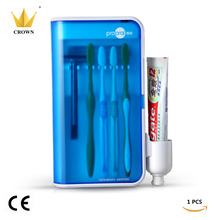 1BOX/lot UV Box Toothbrush Sanitizer Sterilization Holder Cleaner Home Health Dental Care Toothbrush Sterilize Storage Case(China)