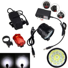 Buy Bicycle Front Lamp 20000 Lumen 3 Modes Bike Light 10x XM-L T6 LED Bike Headlight Torch+6400 mAh Battery Pack+Safety Rear Light for $25.79 in AliExpress store