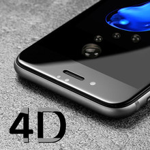 4D (2nd Gen 3D) COLD CARVING Front Full Cover Screen Protection For iPhone 6 6S 7 7 Plus Tempered Glass Film Case On 6S 7 Plus