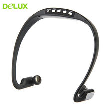 Delux Portable Sport MP3 Player Music Running Headphone Earphone Headset with TF Card FM Radio Slot MP3 Music Player