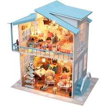 Sweetheart Villa DIY Doll house 3D Miniature Light+Music box+Wood Handmade kits Building model Toy Home&Store Decoration for BJD
