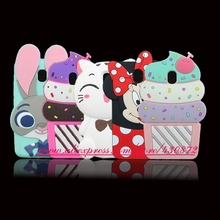 For Samsung Galaxy J5 2017 3D Silicon Stitch Cupcake Cat Bunny Cartoon Soft Phone Back Skin Case for Samsung Galaxy J530 J5 2017(China)