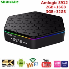 T95Z Plus Smart Android TV Box Amlogic S912 Octa core RAM 2GB/3GB+16GB 32GB TV BOX Android 6.0 WiFi 5.8G H.265 4K Media Player(China)