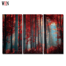 Maple Leaf Wall Christmas Canvas Pictures For Home Decor Forest Decorative Picture Cheap Poster Retro Wall Art Painting Gift(China)