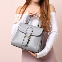 Famous Brands Genuine Leather Mini Handbag Women Messenger Shell Bags 100% Real Cow Leather Small Shoulder Swing Bag