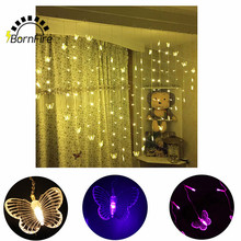128 LED Heart Shape Home Outdoor Holiday Christmas Decorative Wedding xmas String Fairy Garlands Strip Festival Party Lights