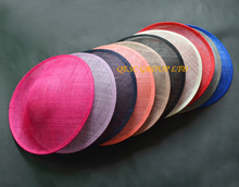 NEW 12 colors.High quality. Large sinamay fascinator base.sinamay hat for kentucky derby,Ascot Races.diameter 33cm.FREE SHIPPING(China)
