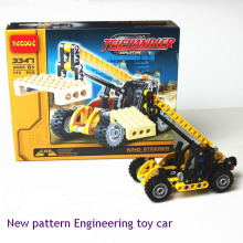DEGOOL New pattern 3347 Engineering toy car 119PCS Telescopic forklift truck construction engineering building blocks diy toys
