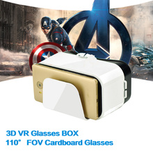 Google VR Glasses Cardboard 3D VR BOX Headset Virtual Reality Goggles Glasses Watch Movie Games for Smartphones(China)