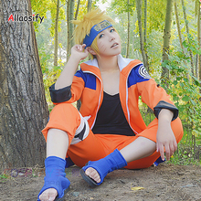 Allaosify Uzumaki Naruto Synthetic Short hair Cosplay Wig High Temperature Fiber Hair Cosplay Party Halloween Wig